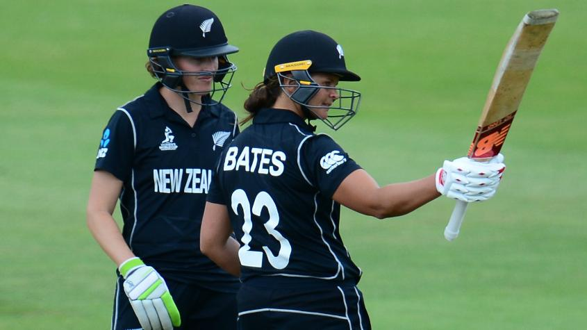 Bates remained unbeaten on 106 and Satterthwaite 78 as New Zealand cruised over the line with 9 nine wickets and 12 overs to spare.