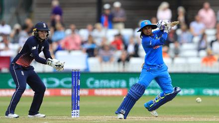 After Mandhana fell for a 72-ball 90, Mithali Raj took charge scoring a fine 73-ball 71 helping India to an imposing 281 for 3.