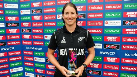 Holly Huddleston was named player of the match for her five wickets.