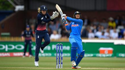Smriti Mandhana took India off to a explosive start with a brisk fifty