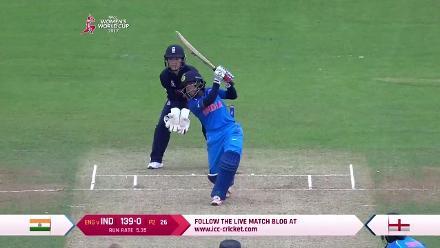 #WWC17 Ind v Eng: Poonam Raut scores a breezy 86