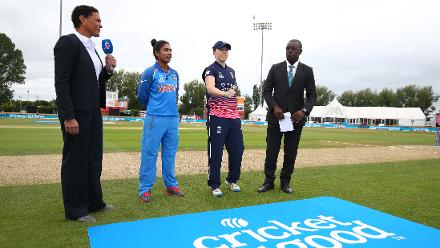 England Women won the toss and opted to field first.