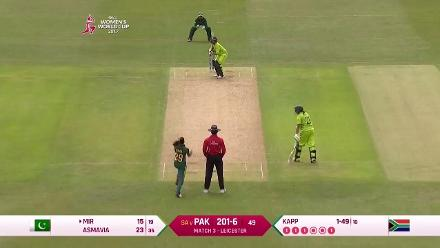 WICKETS: Pakistan lose Sana Mir and Asmavia Iqbal in the final over