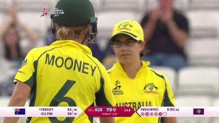 CENTURY: Nicole Bolton brings up her century for Australia
