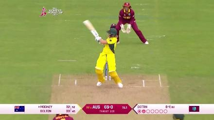 FIFTY: Beth Mooney brings up her half-century for Australia