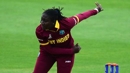 Stafanie Taylor picked up the big wickets of Beth Mooney and Meg Lanning(12 off 15).