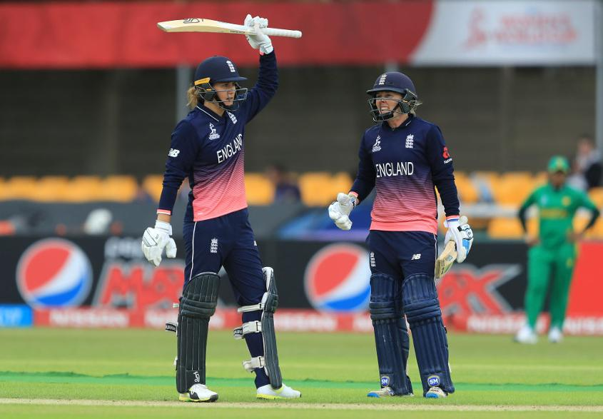 Heather Knight led from the front with her 109-ball 106.