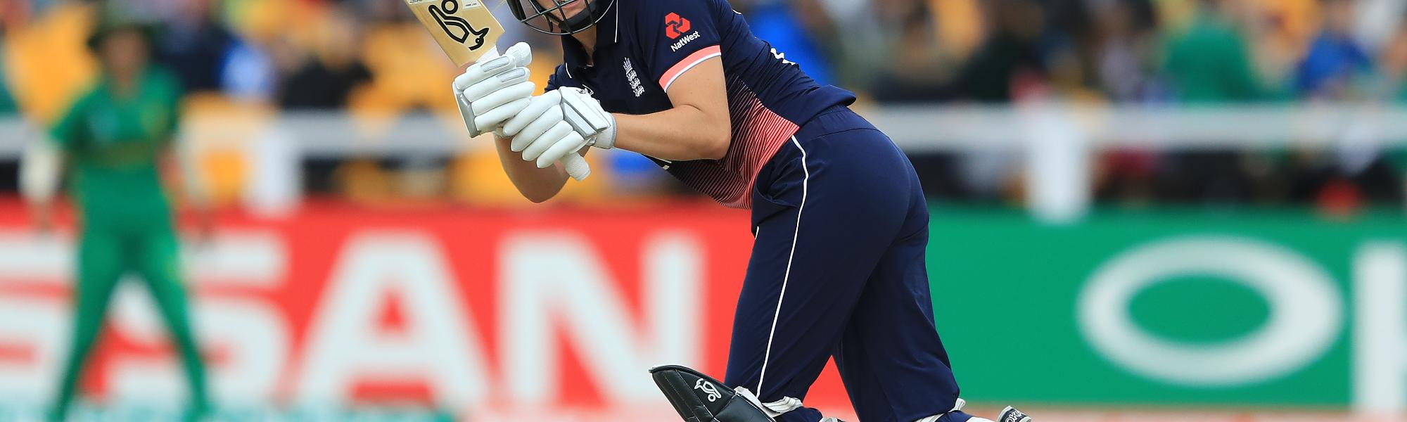 Sciver was the first to reach her century in the 37th over, driving down the ground for a single to become England's second fastest ODI centurion