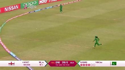ENGw vs PAKw: Highlights of Danielle Wyatt's innings of 42