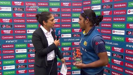 #WWC17 AUS v SL - Player of the Match - Chamari Athapaththu