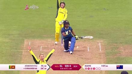 WICKET: Shashikala Siriwardena falls to Kristen Beams for 24