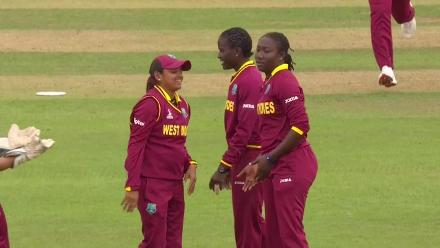 WICKET: Deepti Sharma falls to Stafanie Taylor for 6