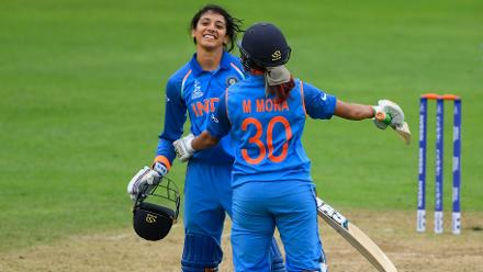 Smriti Mandhana brought up a fine hundred and ensured that India got over the line without further hiccup.