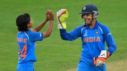 Poonam Yadav kept it very tight and struck twice to strengthen India's hold over the innings.