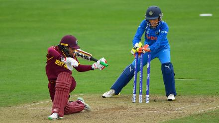 Chedean Nation fell for a 21-ball 12 as West Indies slipped further against India's slower bowlers.