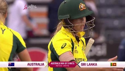 #WWC17 AUS v SL - Australia winning moment