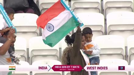 #WWC17 WI v IND - India winning moment