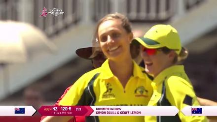 WICKET: Sophie Devine is trapped lbw by Ashleigh Gardner