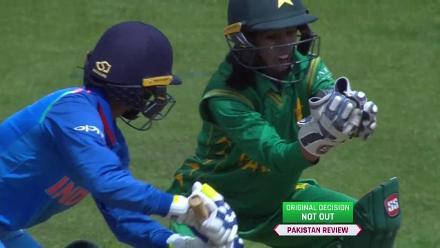 WICKET: Deepti Sharma falls to Nashra Sandhu for 28