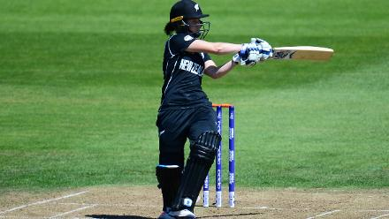 Erin Bermingham's 42-ball 35 helped New Zealand put up 219 for 9 in 50 overs.