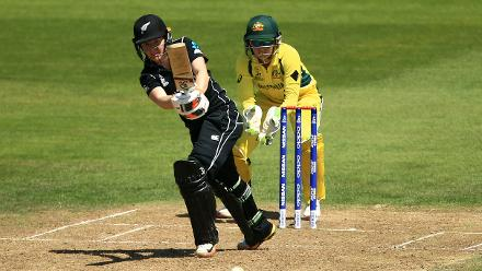 Katie Perkins compiled a fine 59-ball 52, but was run out in the 47th over.