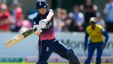 Sarah Taylor hits out during the ICC Women's World Cup 2017 match between England and Sri Lanka at The Cooper Associates County Ground.