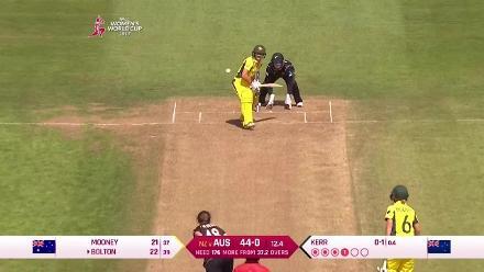 #WWC17 NZ v Aus: Nicole Bolton innings