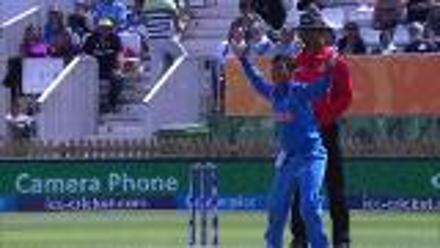 WICKET: Nain Abidi gets knocked over by Deepti Sharma