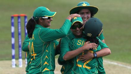 Sana Mir was the pick of the Pakistan bowlers finishing with figures of three for 49.