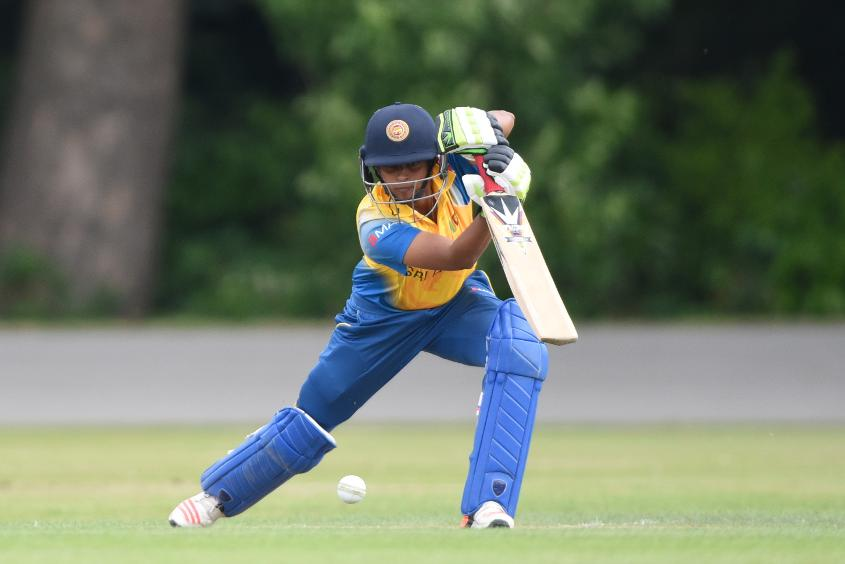 Siriwardene injured her left hamstring during the ICC Women's World Twenty20 2016 warm-up game against India in Bangalore.