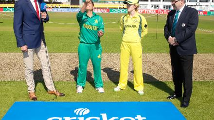 Australia won the toss and elected to bat first.