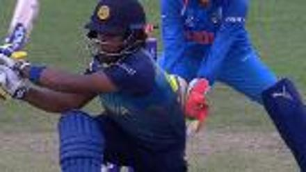 WICKET: Chamari Athapaththu is bowled by Poonam Yadav for 25