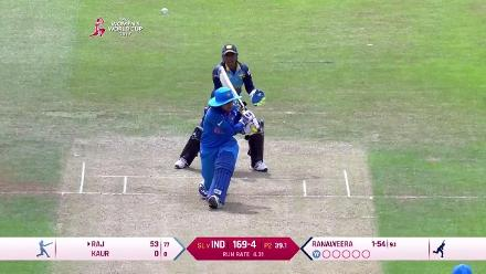 WICKET: Ranaweera takes two in two with the wicket of Mithali Raj