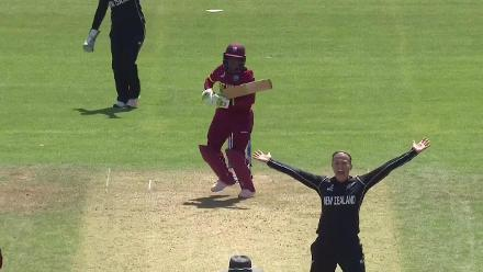 #WWC17 NZ v WI - Anisa Mohammed and Akeira Peters fall; West Indies dismissed for 150