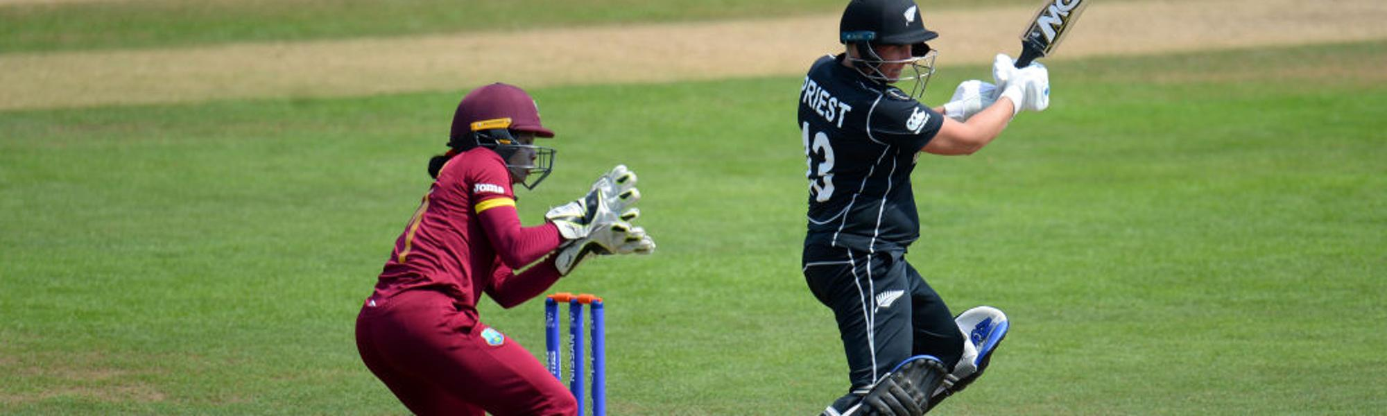 Rachel Priest bats on her way to a 55-ball 90.