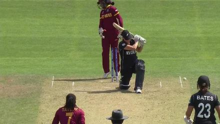 WICKET: Sophie Devine falls to Stafanie Taylor