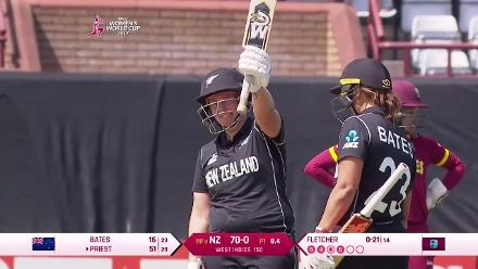 #WWC17 NZ v WI - Rachel Priest Innings