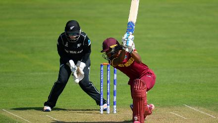 Hayley Matthews of West Indies bats during the ICC Women's World Cup 2017 match.