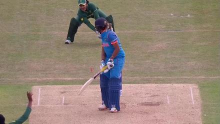 WICKET: Veda Krishnamurthy becomes Ayabonga Khaka's second wicket