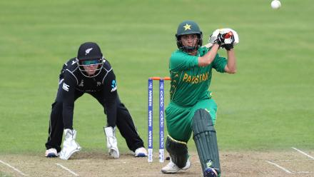 Sana Mir scored a battling fifty even as Pakistan folded for just 144 in 46.5 overs.