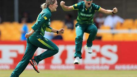 It was two in three balls for van Niekerk as she dismissed Harmanpreet Kaur for a duck as well