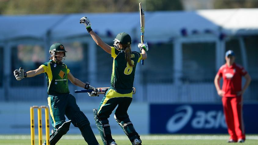 Australia just managed to sneak over the line with three balls to spare.