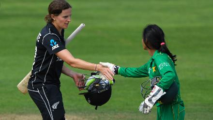 Amy Satterthwaite's 42-ball 38* saw New Zealand get over the line with eight wickets in hand.