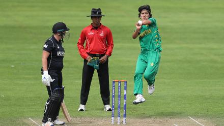 Diana Baig struck early with the wicket of Rachel Priest.