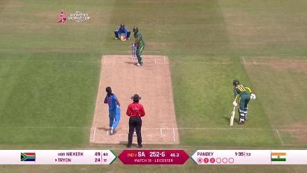 #WWC17 Chloe Tryon blasts 24 off 18 balls before falling to Shikha Pandey