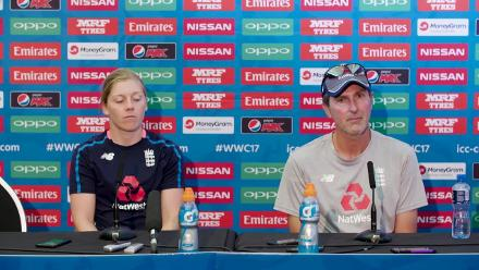 8 July, Bristol - England - Heather Knight and Mark Robinson pre-match press conference