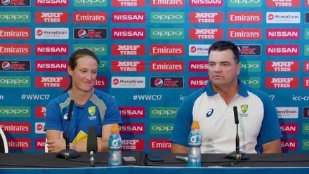 8 July, Bristol - Australia - Joe Dawes and Megan Schutt pre-match press conference