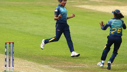SS Weerakkody took 3 for 38 in her 10 overs and was the pick of bowlers for Sri Lanka