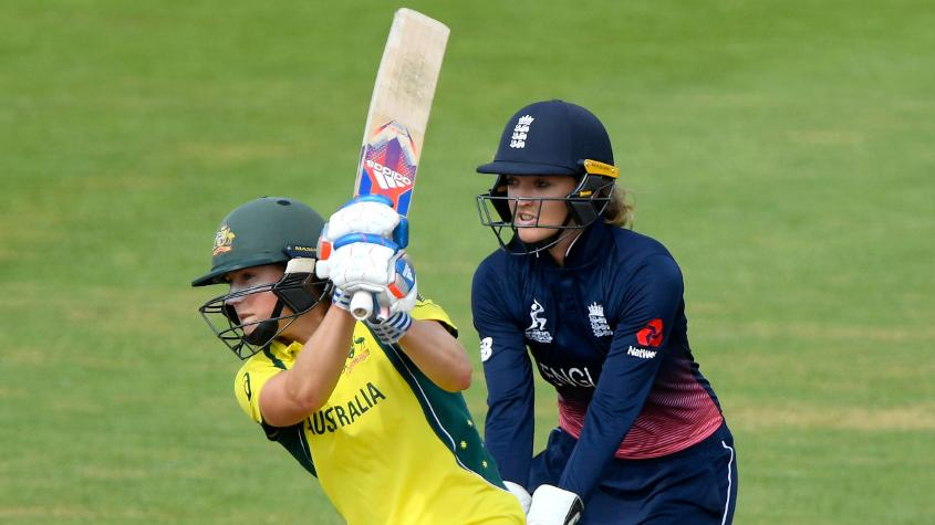 Ellyse Perry battled on for Australia with a half-century.