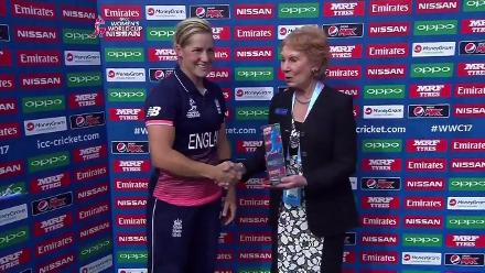#WWC17 ENG v AUS - Player of the match - Katherine Brunt